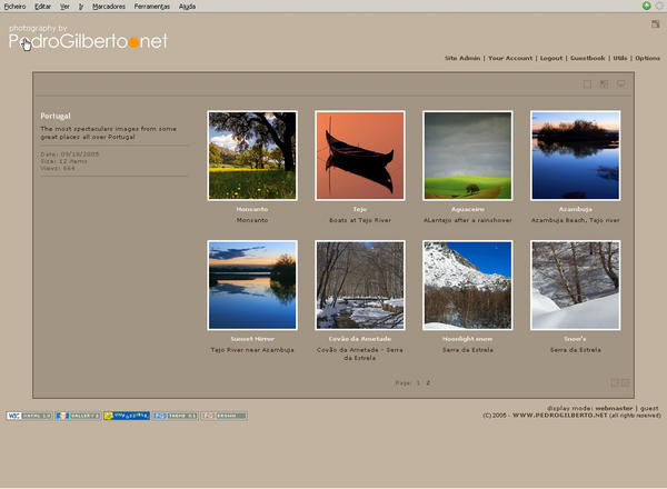 Album page with brown color pack